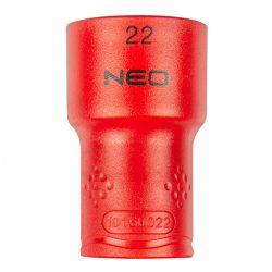 "Dugókulcs hatlapú 1/2"" 22mm 1000V, szigetelt, NEO"