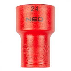 "Dugókulcs hatlapú 1/2"" 24mm 1000V, szigetelt, NEO"