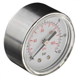 """Nyomásmérő sűrített levegőhöz, O 60mm, 1/4"""", hátsó csatlakozás"""