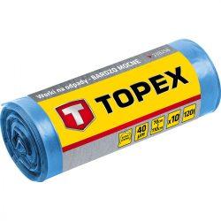 Szemetesszák 120 l, kék, 10 db, nagyon erős, méretek:70x110 cm, vastagság: 40 mi