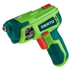 Akkus revolver csavarozó, 3,6V, 1,5Ah, 5Nm, 10bit, LED világítás, VERTO