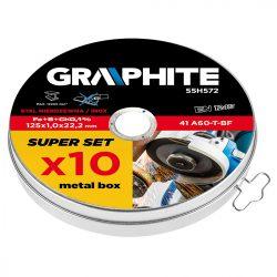 Vágókorong 10 db fémhez 125 x1.0 x22.2mm, 41 A60-T-BF, INOX., GRAPHITE