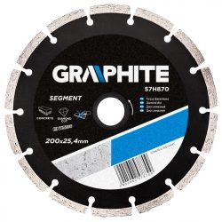 Gyémánt vágókorong 200X25.4 SZEGMENSES, GRAPHITE