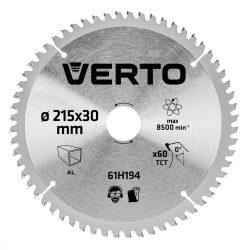 Körfűrészlap 215X30 Z61, VERTO