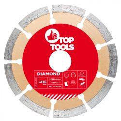 Gyémánt vágókorong 115mm SZEGMENTÁLT
