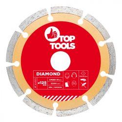 Gyémánt vágókorong 125mm SZEGMENTÁLT, Top Tools