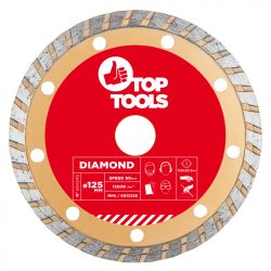 Gyémánt vágókorong 125mm TURBO, Top Tools
