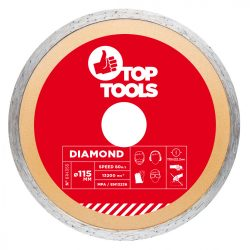 Gyémánt vágókorong 115mm VIZES, Top Tools