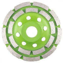 Gyémánt csiszolókorong 115 x22.2 x5mm dupla szegmenses, VERTO