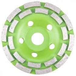 Gyémánt csiszolókorong 125 x22.2 x5mm dupla szegmenses, VERTO