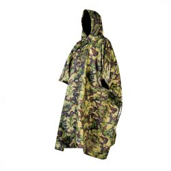 Esőköpeny 3 az 1-ben: poncsó, matrac, ponyva, oldalsó rögzítők, terepszínű, XXL