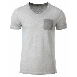 Men's Slub-T V-nyakú póló 8016