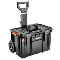 Rakásolható szerszámláda, kerekekkel, 530x 390x690mm, System II.
