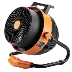 Elektromos hősugárzó ventiátorral, 2 in 1, 2,4kW, manuális,termosztát,460 m3/h,