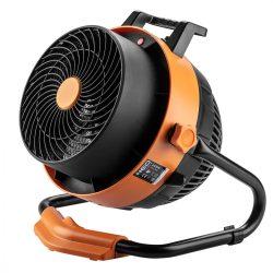 Elektromos hősugárzó ventiátorral, 2 in 1, 2,4kW, digitális,termosztát,460 m3/h,
