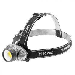 Fejlámpa 3W LED COB, batteries 3AAA, TOPEX