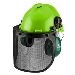 Védősisak 3az1-ben, fülvédővel, pajzzsal