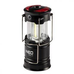 Kempinglámpa, 3 funkciós, összecsukható, 200lum, elemes 3xAA, COB LED, 3W