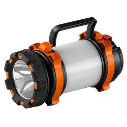 Kempinglámpa, akkus, 3 funkciós, 800lum,  CREE T6 + SMD LED, powerbank funkció,