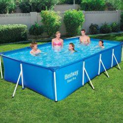 Bestway FLORIDA szögletes fémvázas medence szett 400 x 211 x 81 cm